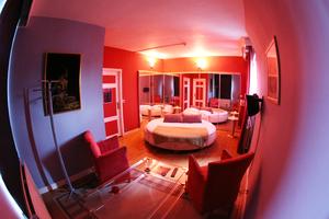 Chambre lit rond - Le Lys Blanc
